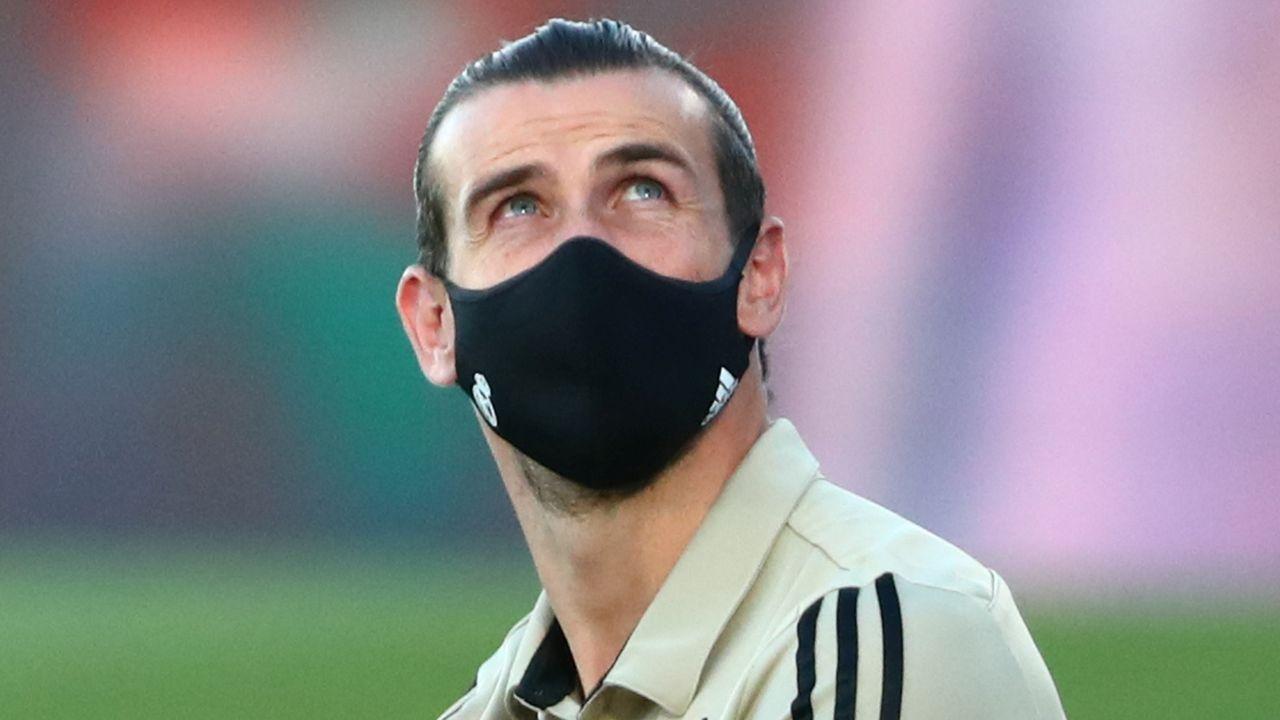 Bale celebra uno de sus goles al Liverpool en la final de la Champions del 2018