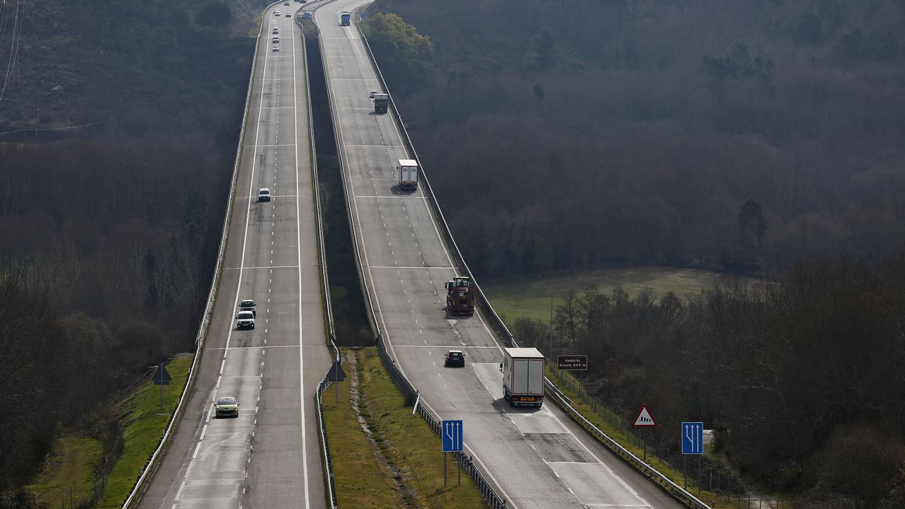 Autovía A-52 sentido Madrid