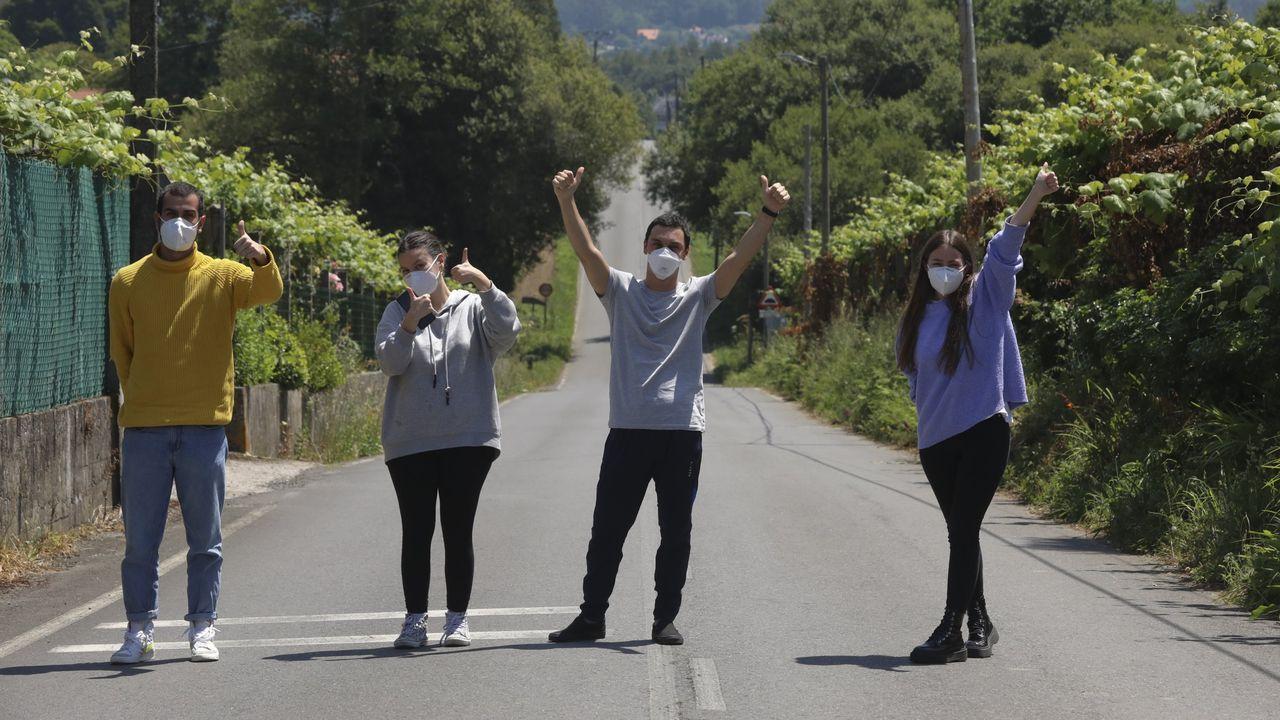 Enrique de Esteban, María García, Iván Vidal y Claudia Varela, estudiantes de Economía, quedaron atrapados por la pandemia en Chile, donde hacían un intercambio, y no pudieron regresar a Galicia hasta el 31 de mayo