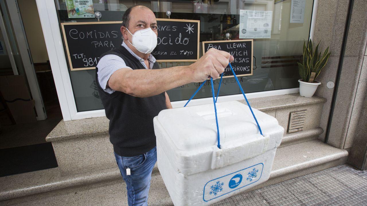 Protesta de hosteleros en Oviedo