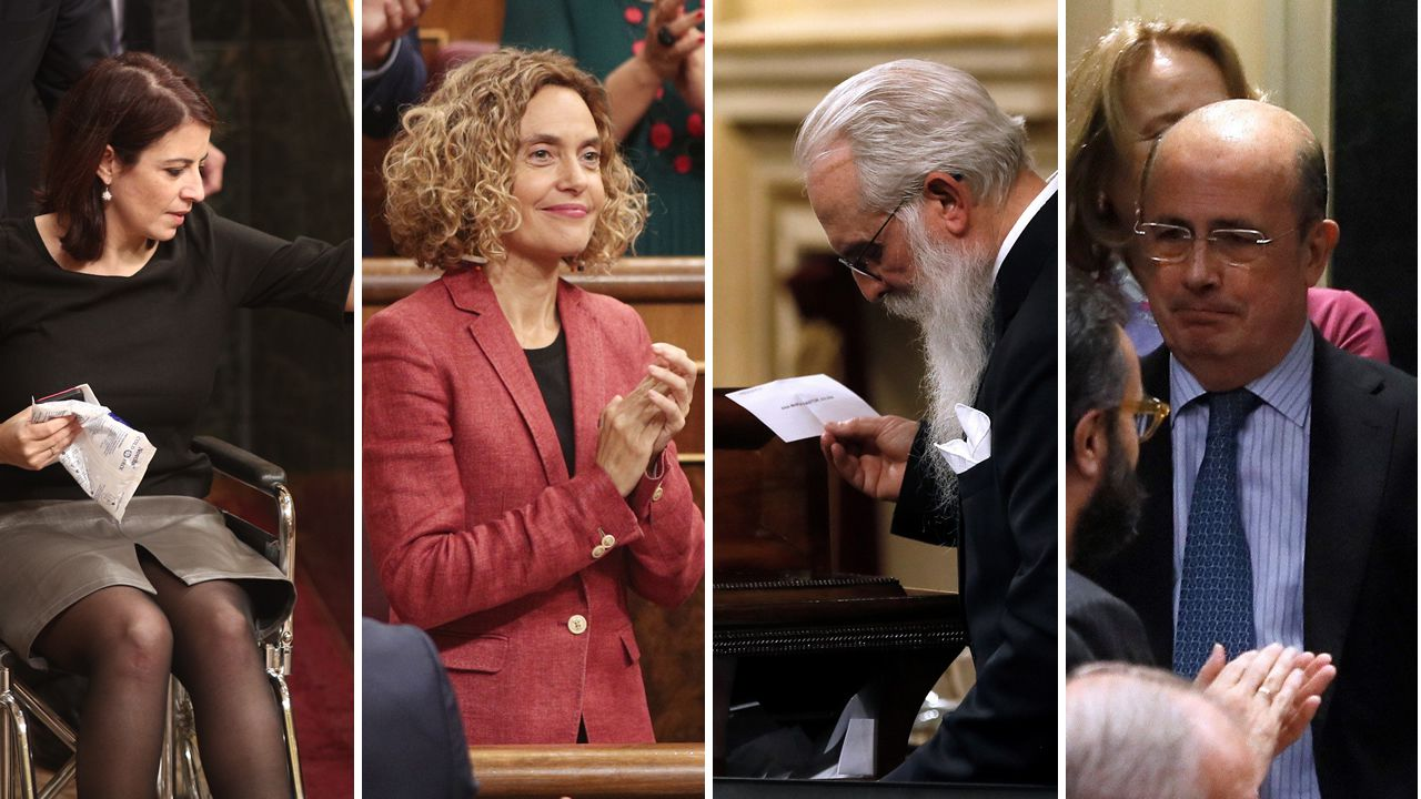 Adriana Lastra, Meritxell Batet, Agustín Zamarrón y Gil Lázaro