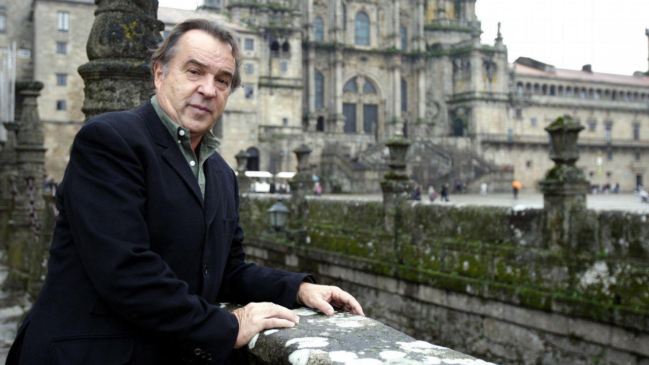 Morlán, el seleccionador que catapultó a Cal a la gloria.Tito Vázquez, durante una visita a Galicia
