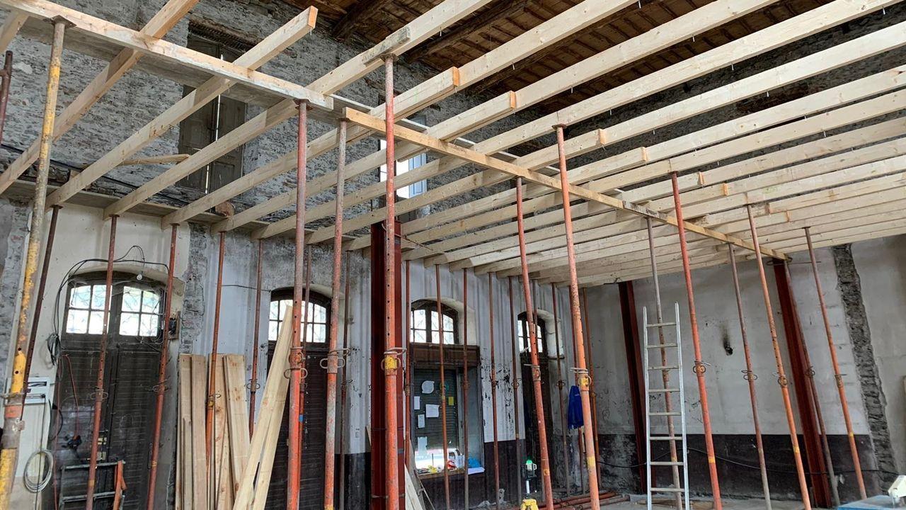 Un aspecto del estado actual de las obras en el interior del edificio