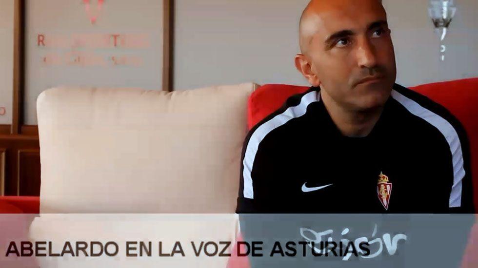 El entrenador del Sporting, Abelardo