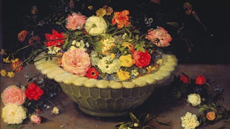 «Florero en vaso» (1615). Jan Brueghel el Viejo. Museo del Prado