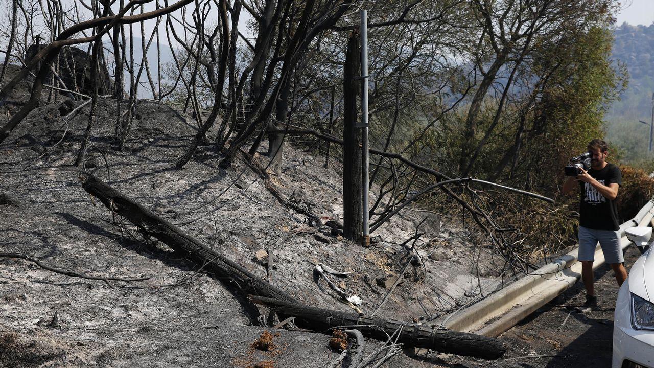 Los motivos de la Ribeira Sacra para ser Patrimonio de la Humanidad.Una de las zonas que ardió en Monterrei.