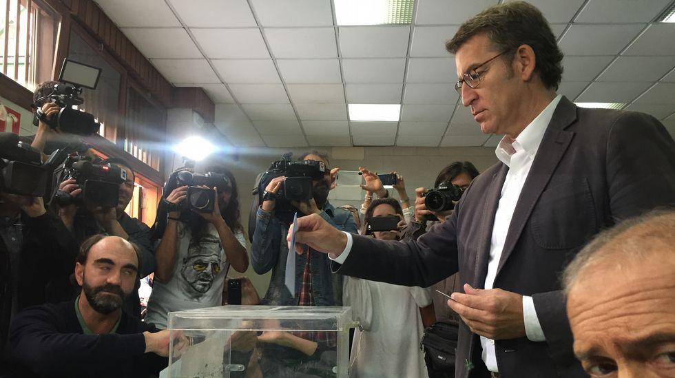 El candidato del PP a la Xunta, Alberto Núñez Feijoo.