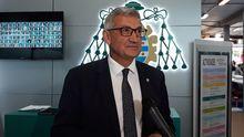 Santiago García, rector de la Universidad de Oviedo