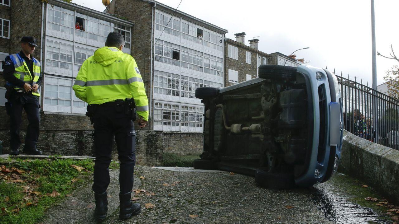 Un accidente de tráfico registrado en la avenida de Xoán XXIII en el año 2019