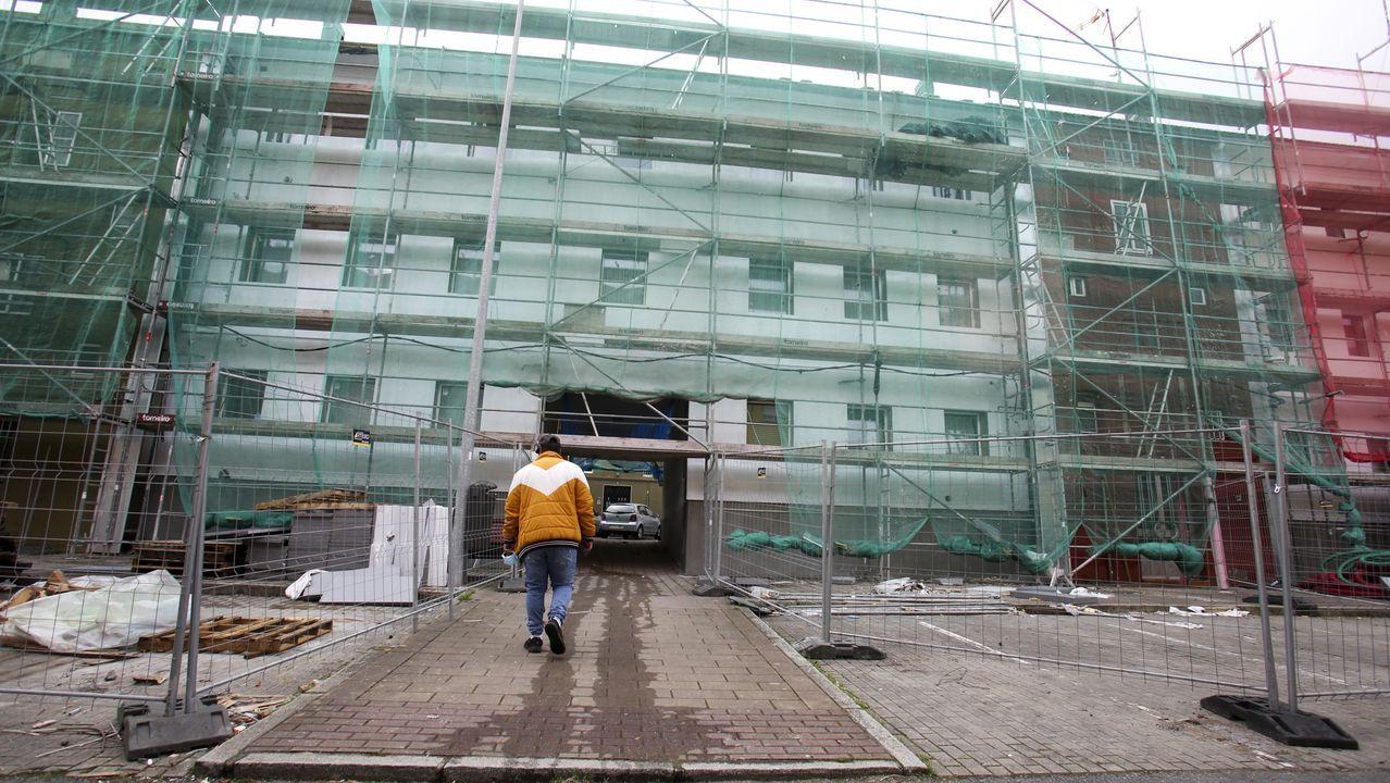 Obras de rehabilitación que se están ejecutando en las viviendas municipales de Recimil