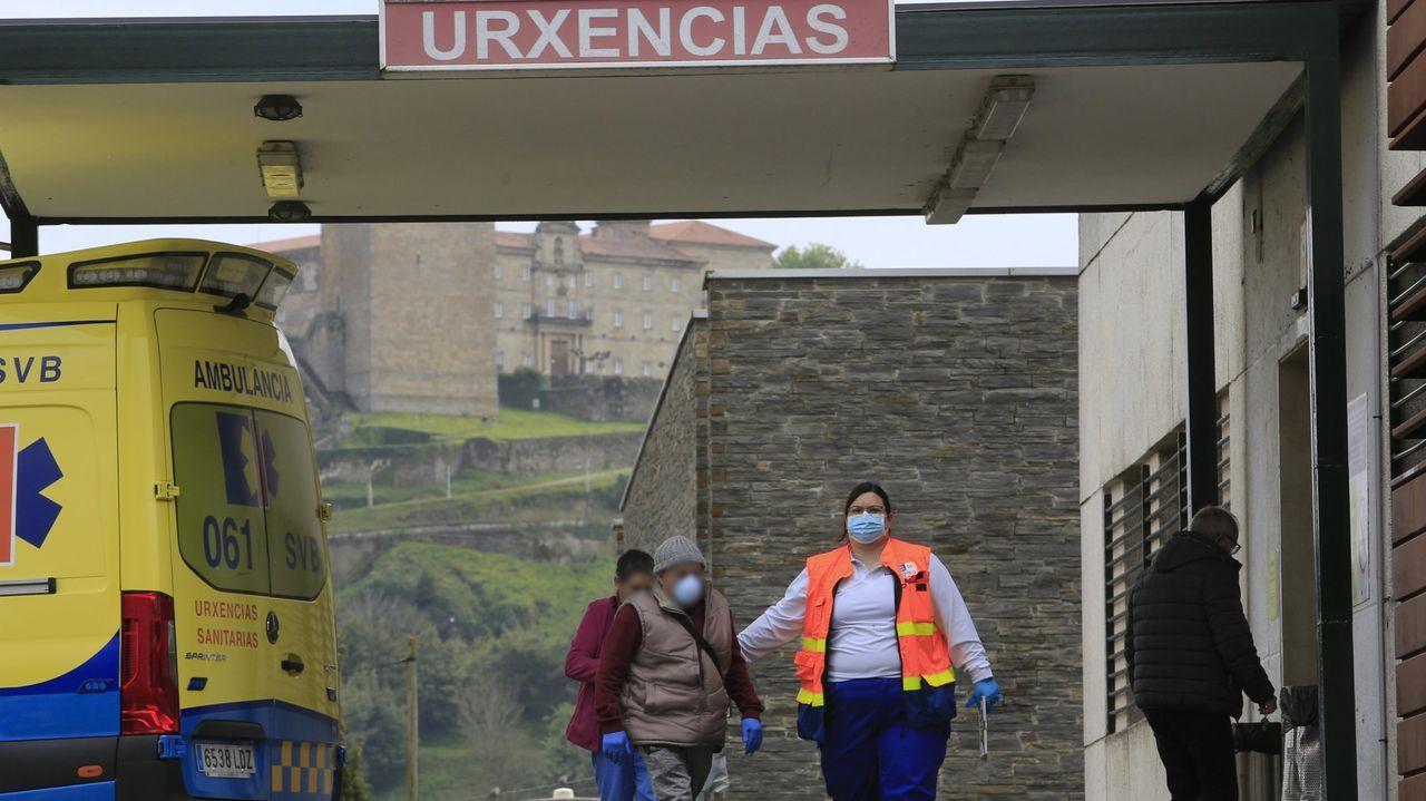 Entrada de urgencias del hospital comarcal de Monforte