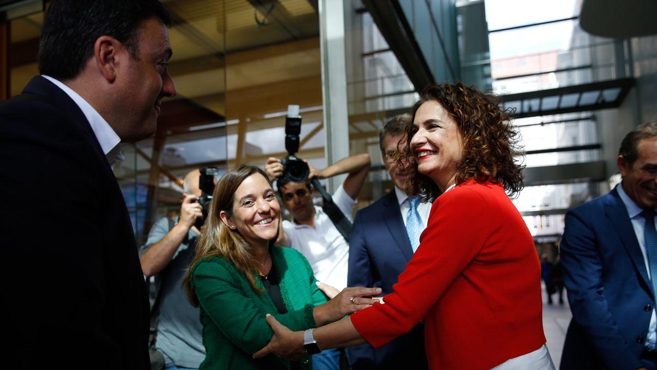 La ministra de Hacienda, durante una visita la semana pasada a Galicia
