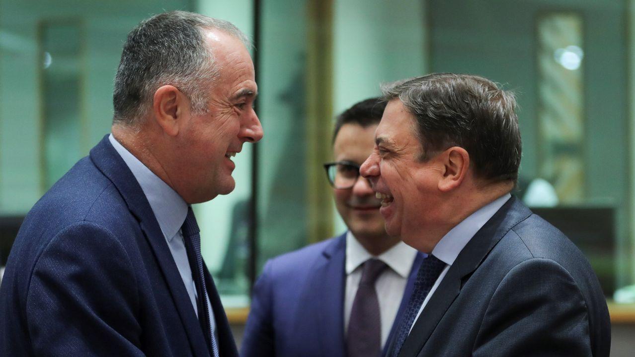 Michel Barnier, durante el debate en Bruselas sobre los resultados de la votación sobre el tratado de salida en Westminster.