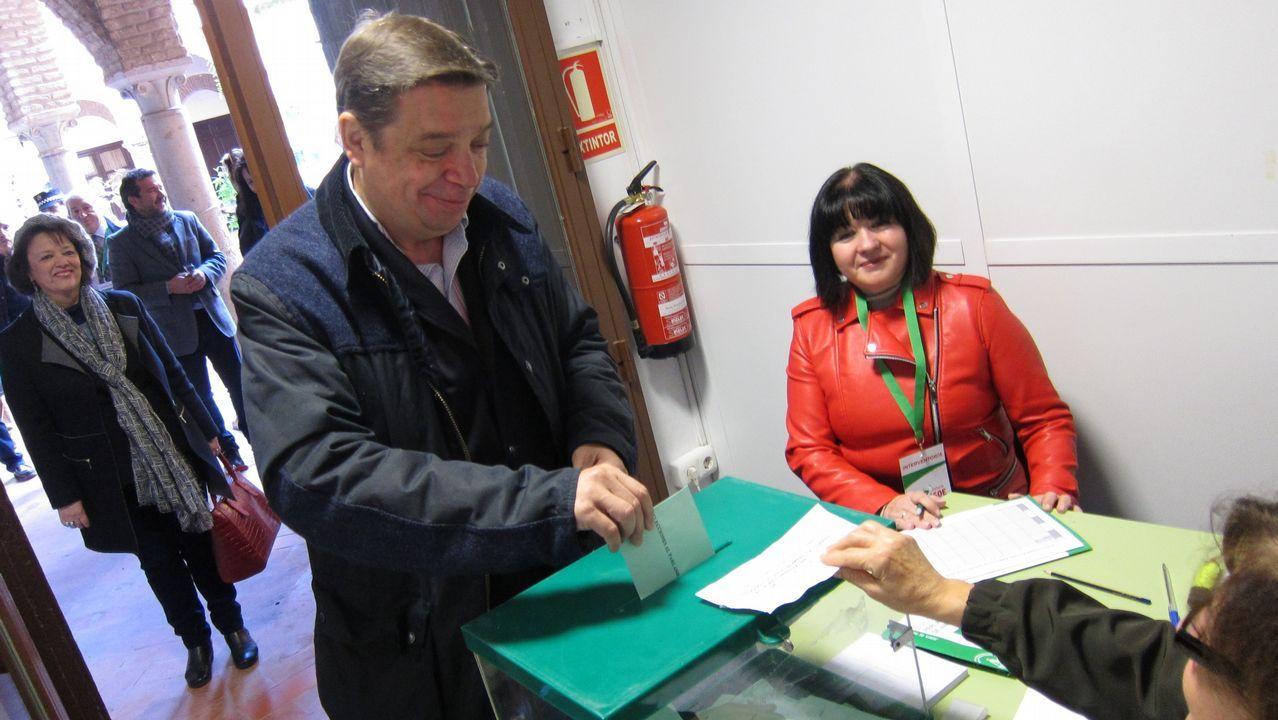 El ministro Luis Planas votando. Elecciones andaluzas