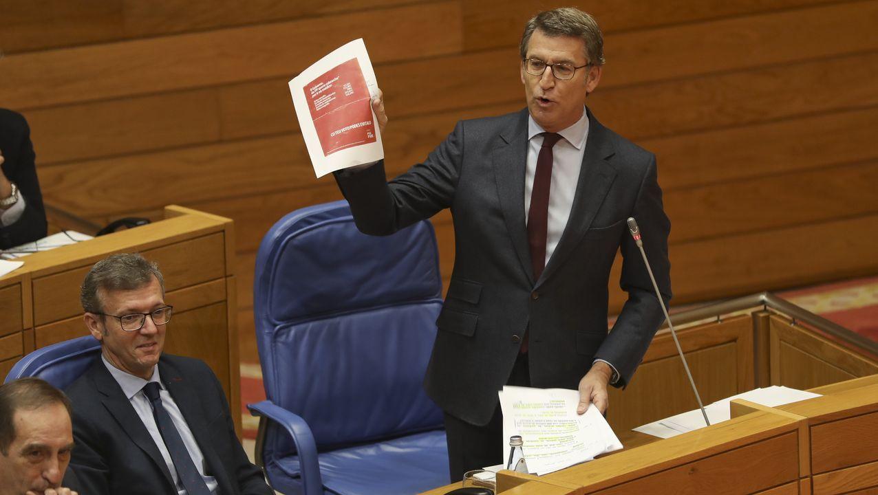 Gómez Besteiro acudiendo a los juzgados de Lugo a principios del año pasado para declarar como imputado por el caso Garañón
