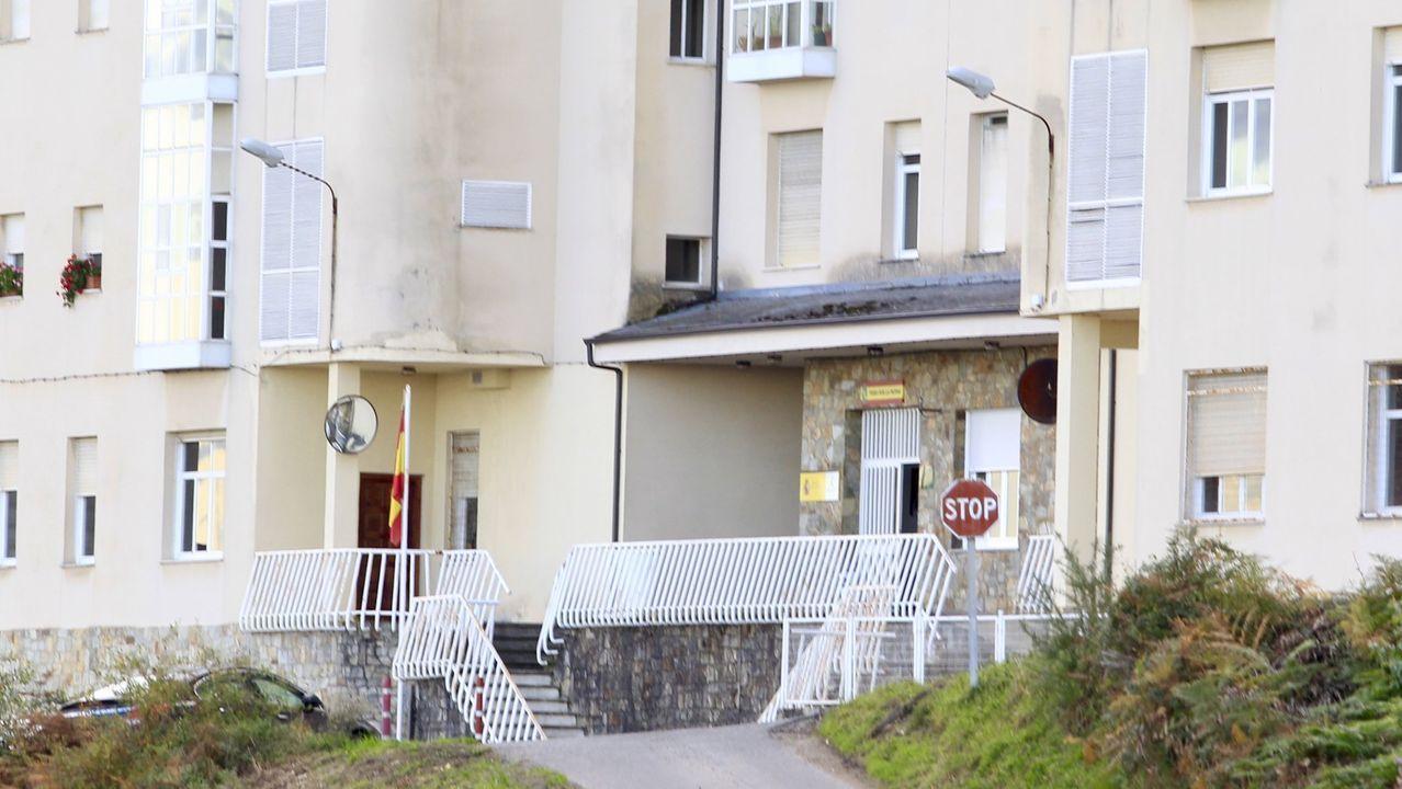 Casa cuartel de la Guardia Civil en Burela