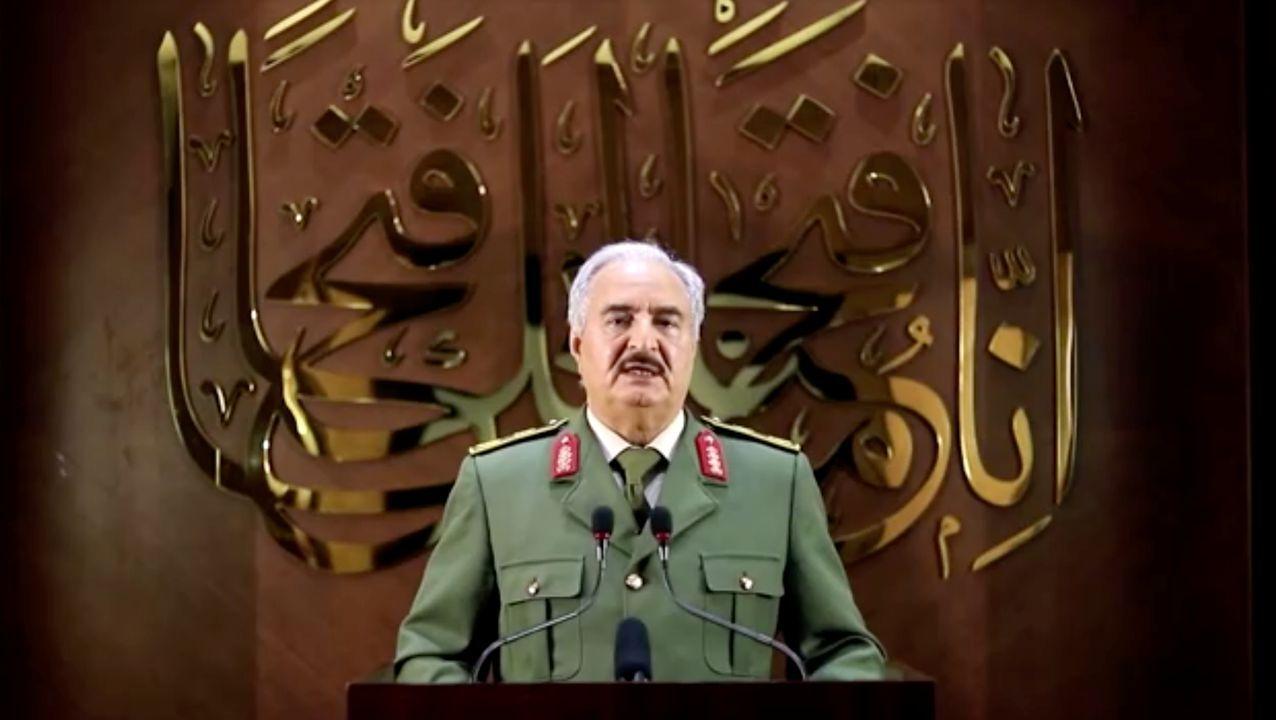 El mariscal Jalifa Haftar grabó su alocución en un lugar sin especificar de Libia