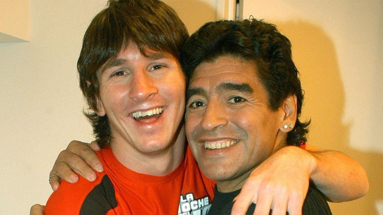 Junto con Leo Messi, en el año 2005