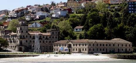 Pedro Duque en el Sarmiento de Gamboa.Los terrenos de la ETEA, en Teis,  acogerán la sede corporativa del Campus do Mar una vez que se alcance un acuerdo.