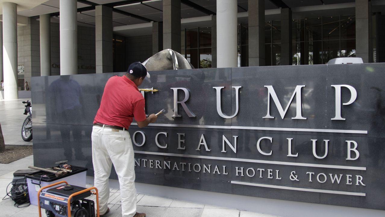 Retirada de las letras de «Trump» de un hotel de Panamá