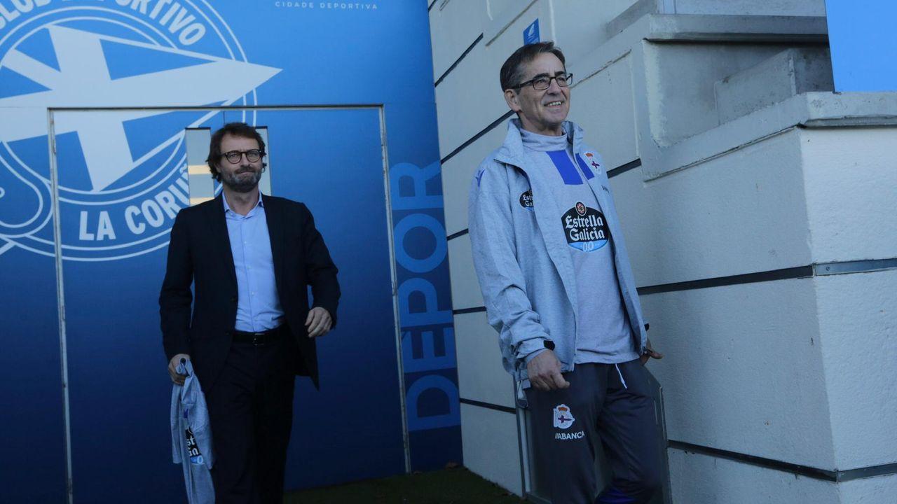 Presentación de Fernando Vázquez como nuevo técnico del Dépor