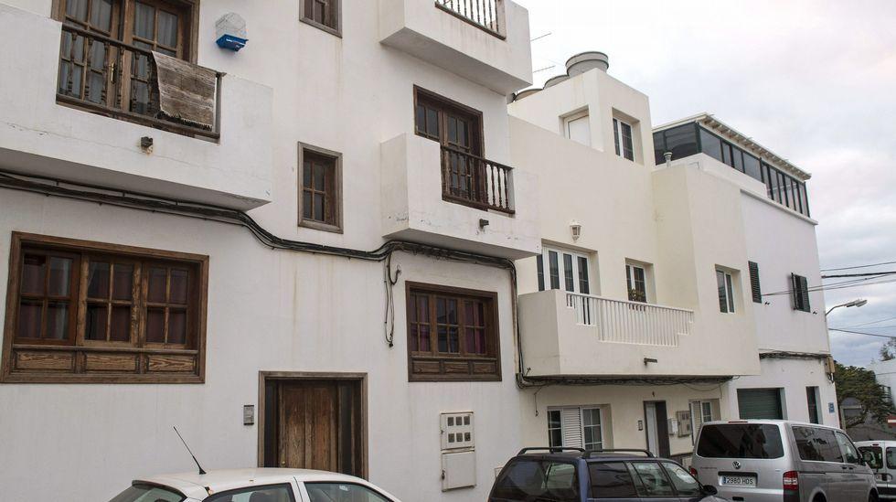 Fachada de la vivienda de la calle Navarra, en el barrio Titerroy de Arrecife.