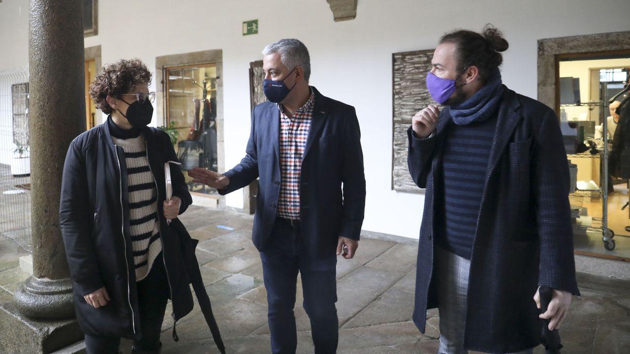 Rábade presentou o proxecto audiovisual «Piano solo entre árbores» xunto a Rosa Salgado e Valentín García