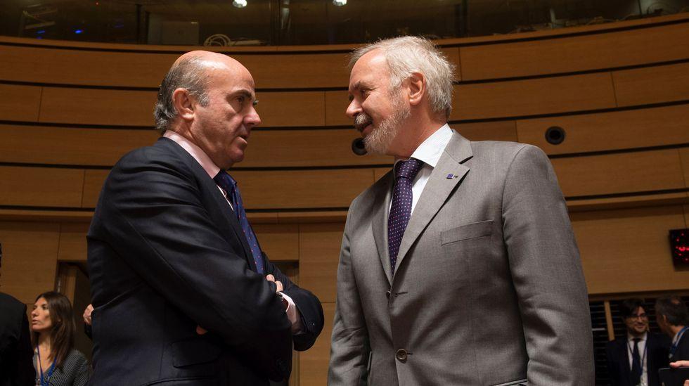 De Guindos, con el presidente del Banco Europeo de Inversiones