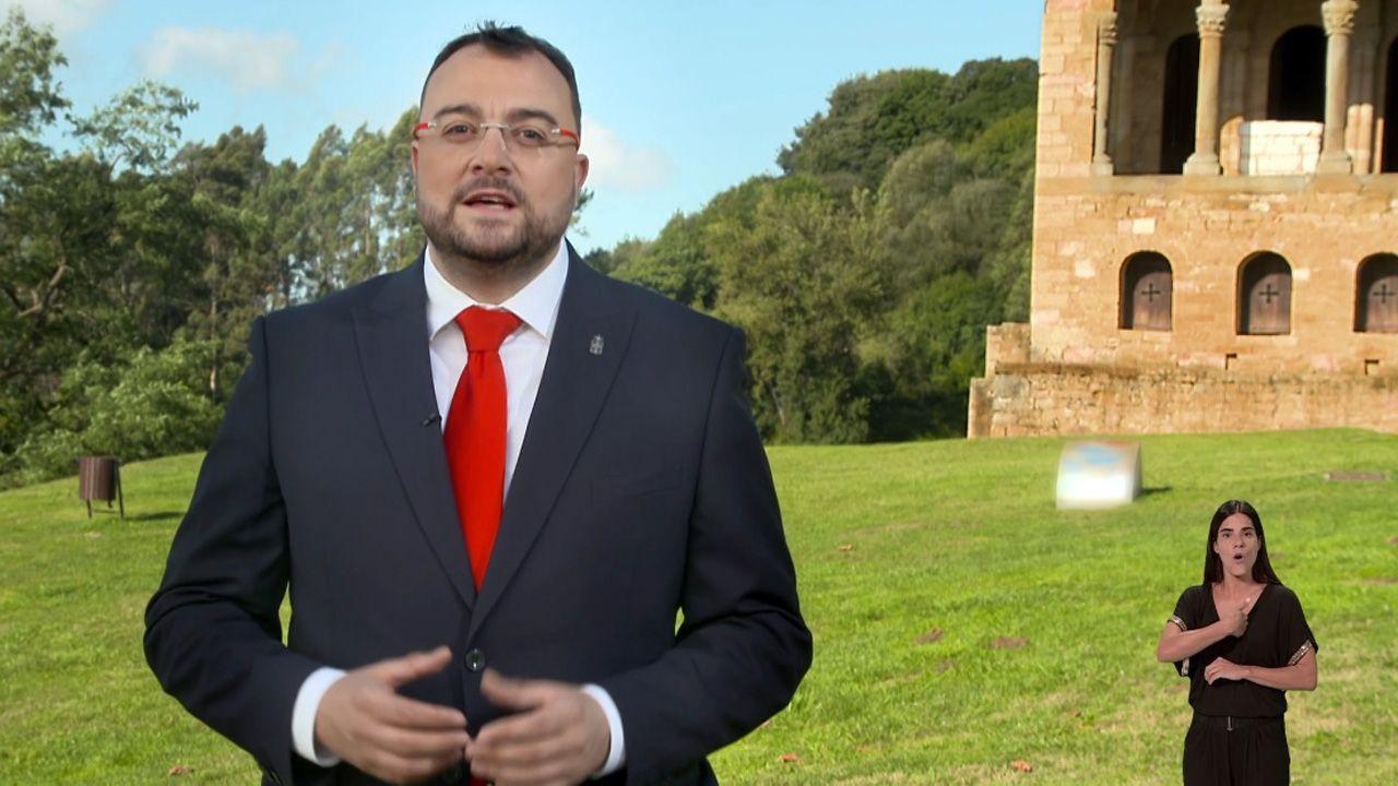 Mensajes institucional del Día de Asturias.El líder de Ciudadanos en Santa María del Naranco