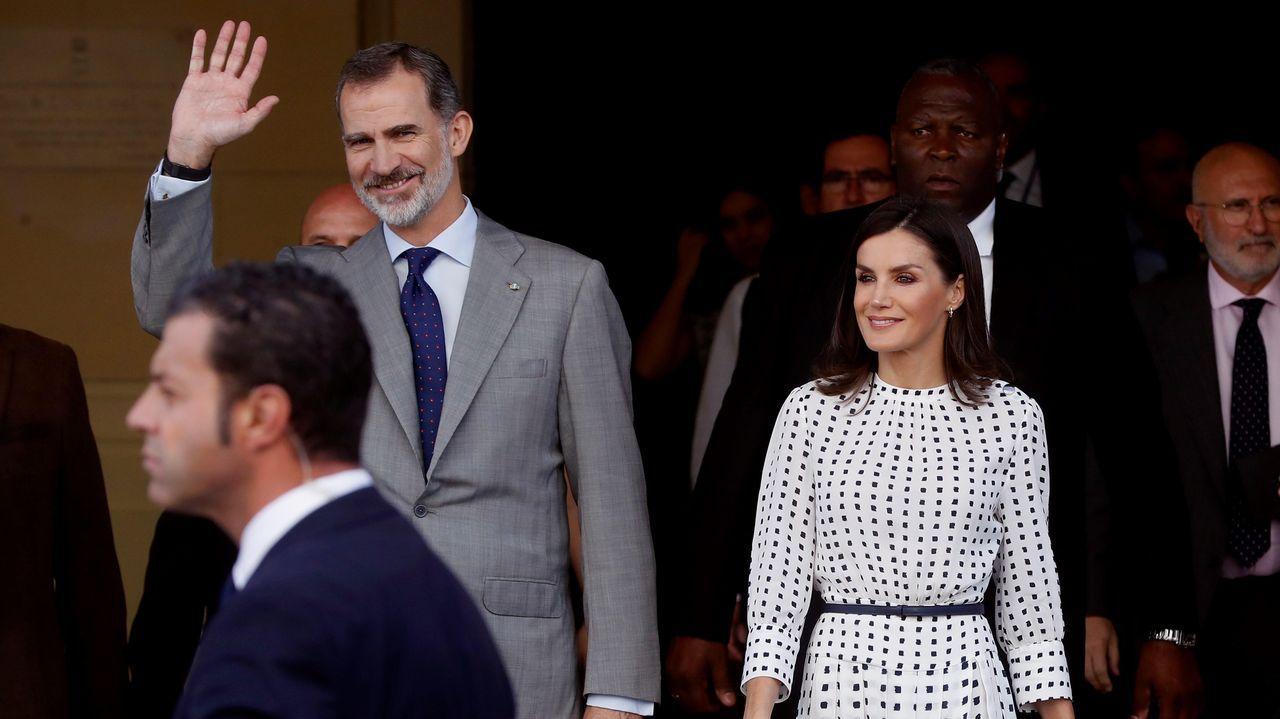 Los reyes de España, Felipe VI y Letizia, a la salida del Museo de Bellas Artes de La Habana