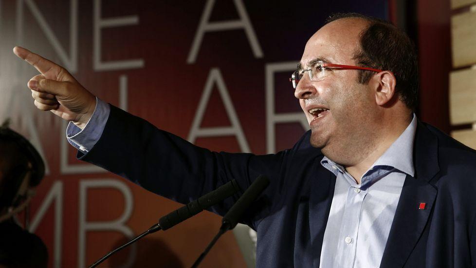 Miquel Iceta, PSC. Barcelona, 1960. Dejó la carrera de Químicas para enrolarse en las filas socialistas. Ha sido durante años fontanero del partido en Cataluña y Madrid. Salió del armario en un mitin en 1999.