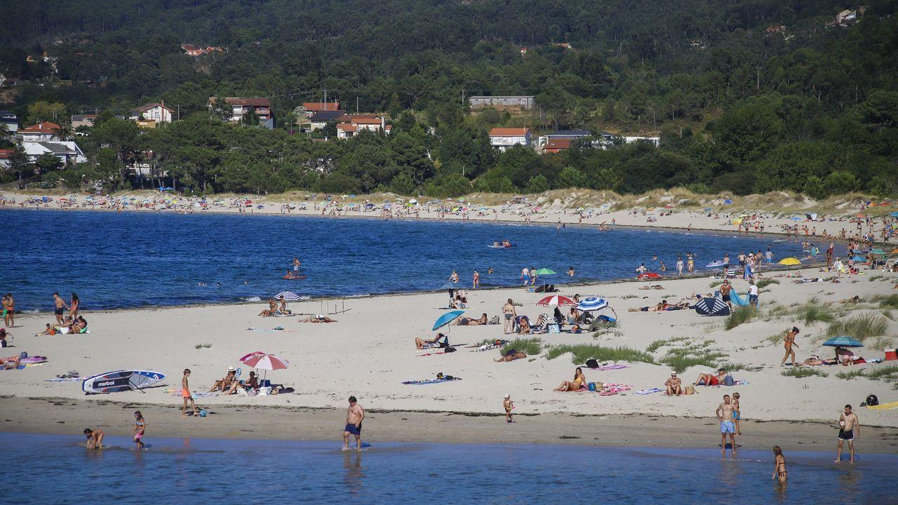 Imagen del pasado verano en la playa sonense de Aguieira
