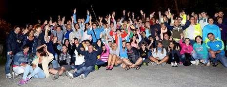 A participación na andaina nocturna, celebrada o luns, foi a maior de todas as edicións.