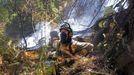 El incendio de Quiroga, en fotos