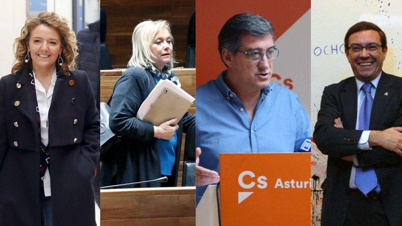 El vídeo de Daniel Ripa sobre la presencia en Asturias de los líderes de la derecha en campaña.Teresa Mallada, Mercedes Fernández, Ignacio Prendes y Juan Vázquez