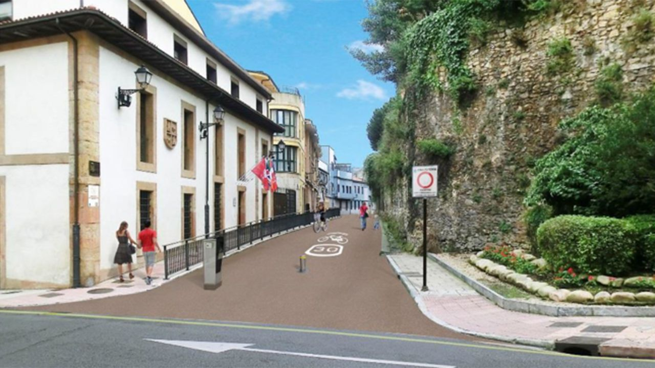 Proyecto de peatonalización de la calle Paraíso de Oviedo