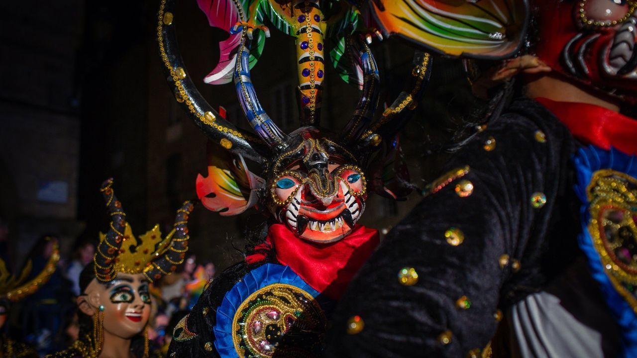 Un grupo participante en las Xornadas de Folclore de 2019