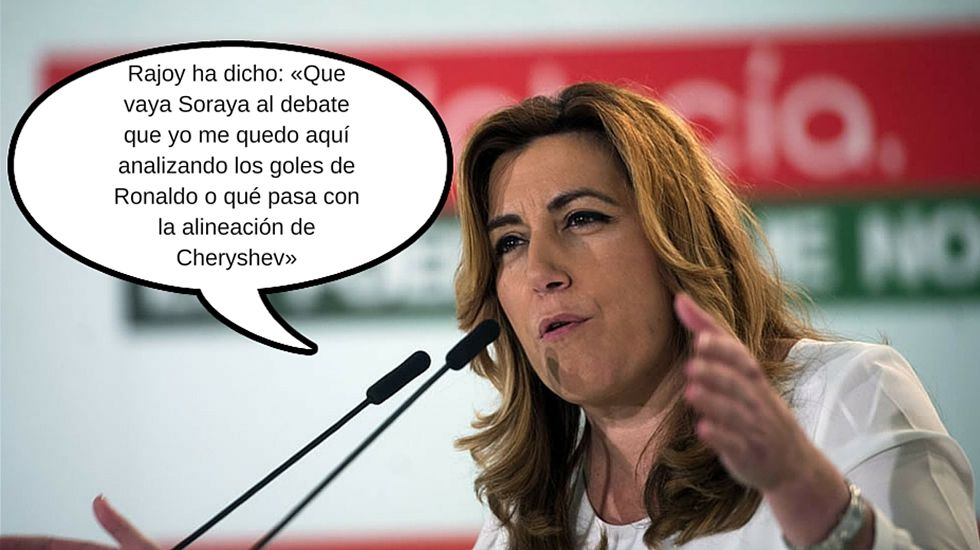 Susana Díaz, sacando partido al #Cherygota