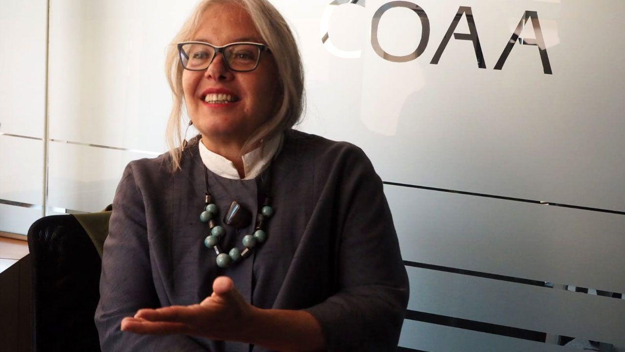 Zaida Muxi, en la sede gijonesa del Colegio Oficial de Arquitectos de Asturias