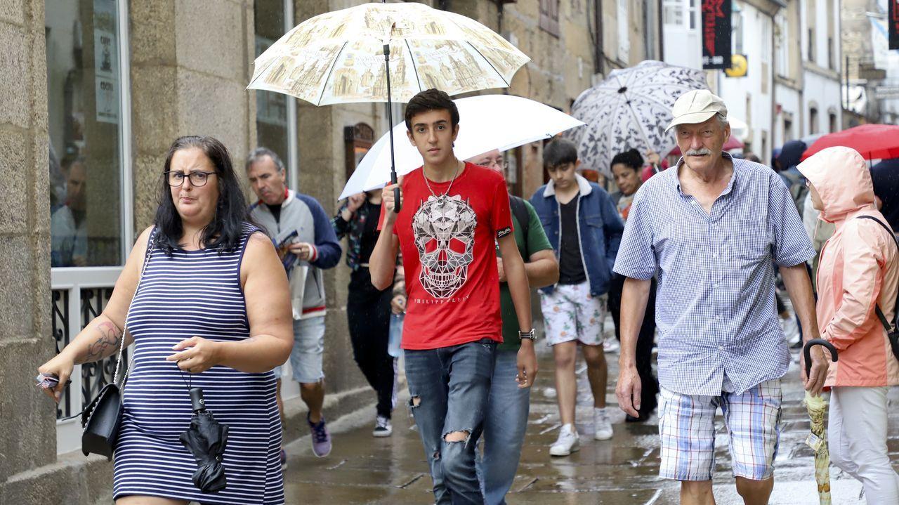 A pesar de la lluvia de origen tropical ayer las temperaturas fueron altas en Galicia