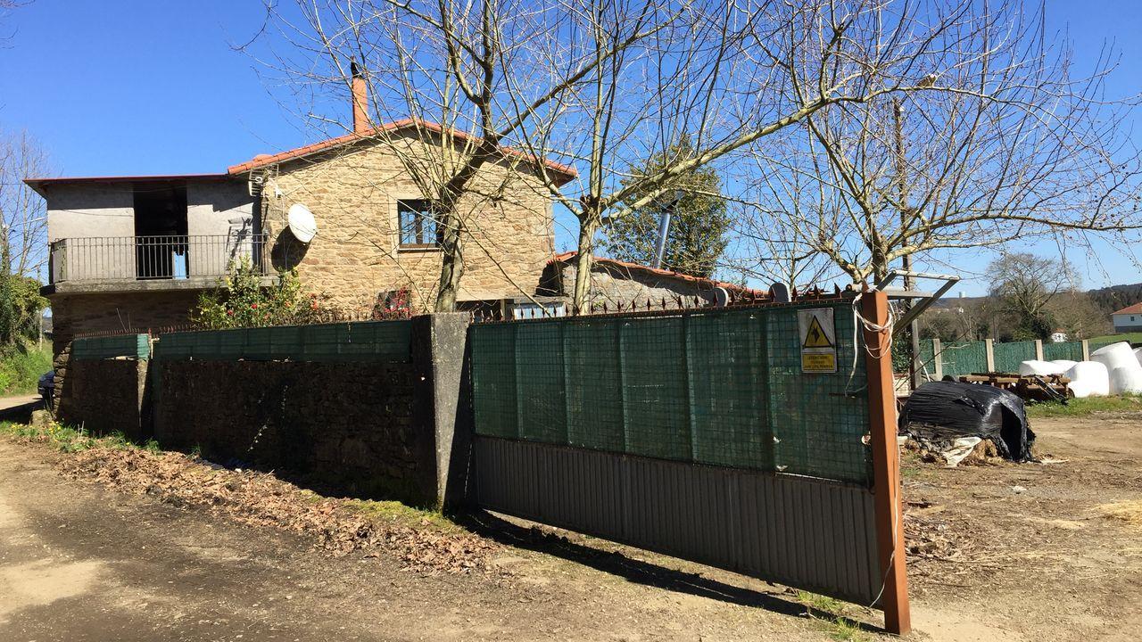 Casa de Cerceda en la que apareció muerta una vecina con un golpe en la cabeza