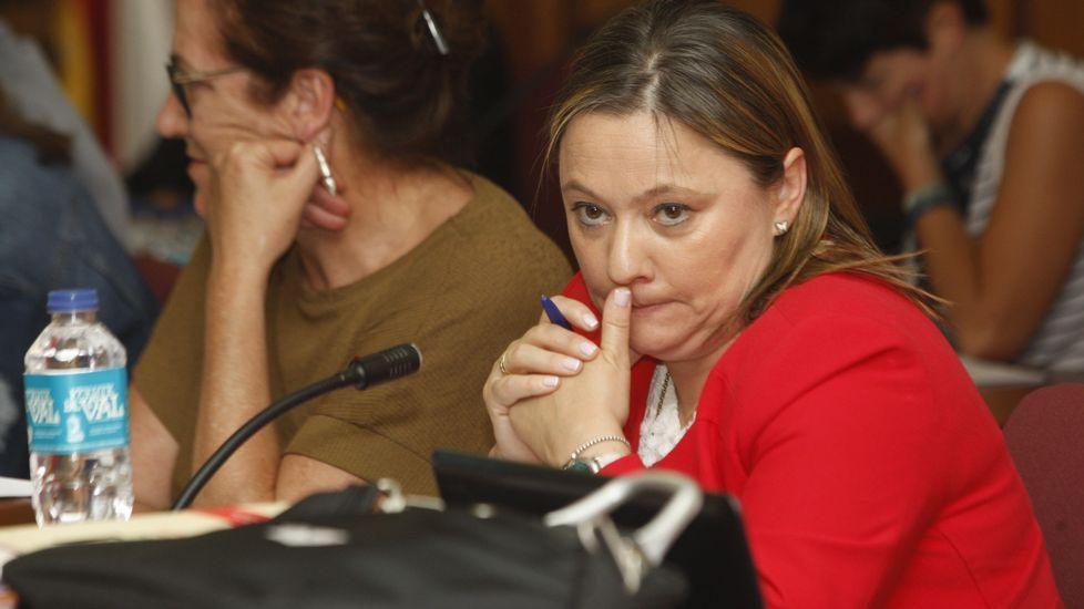 Julia Rodríguez, en la campaña de las elecciones municipales del 2015