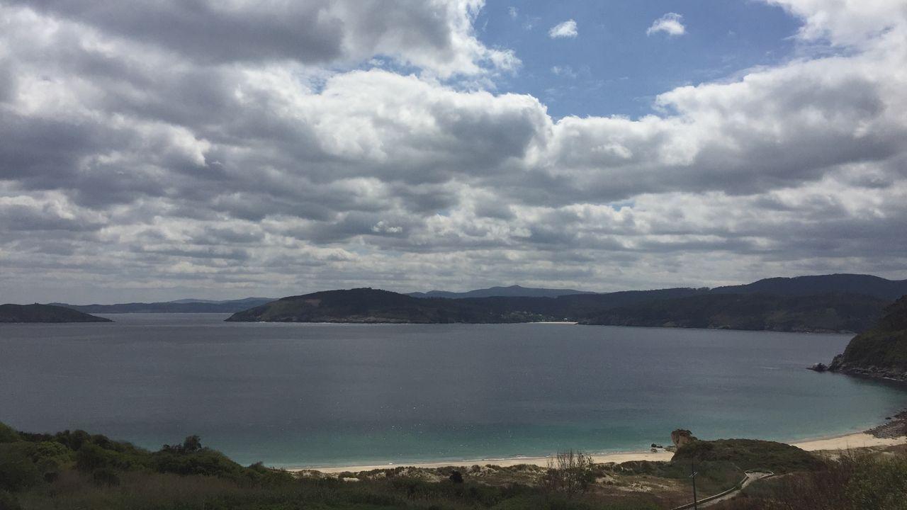La ruta culminaría en el extremo derecho de la playa de Bares