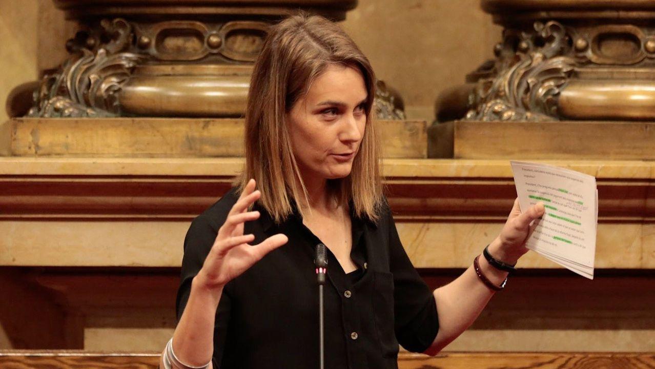 Jéssica Albiach, porrtavoz de los Comunes en el Parlamento catalán