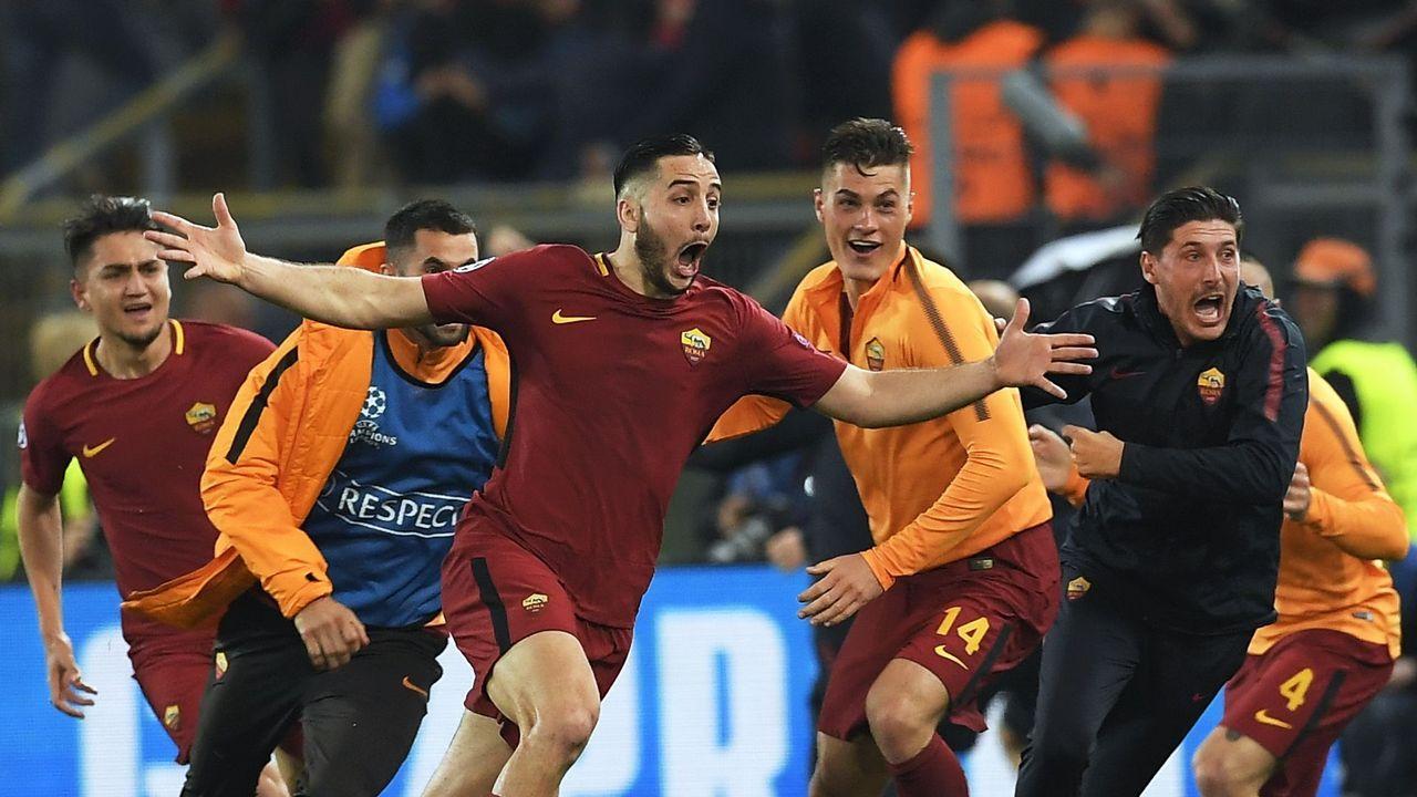 El Roma-Barça, en imágenes