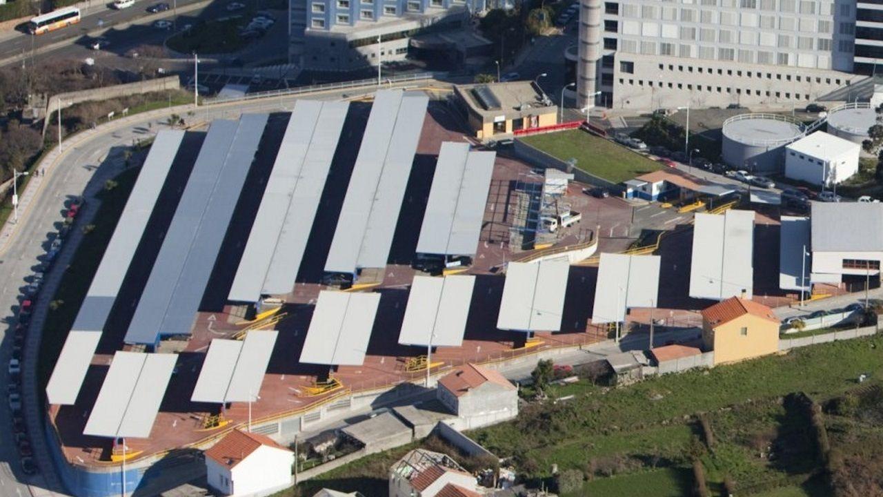 Imagen de archivo del aparcamiento de pago situado junto al Chuac