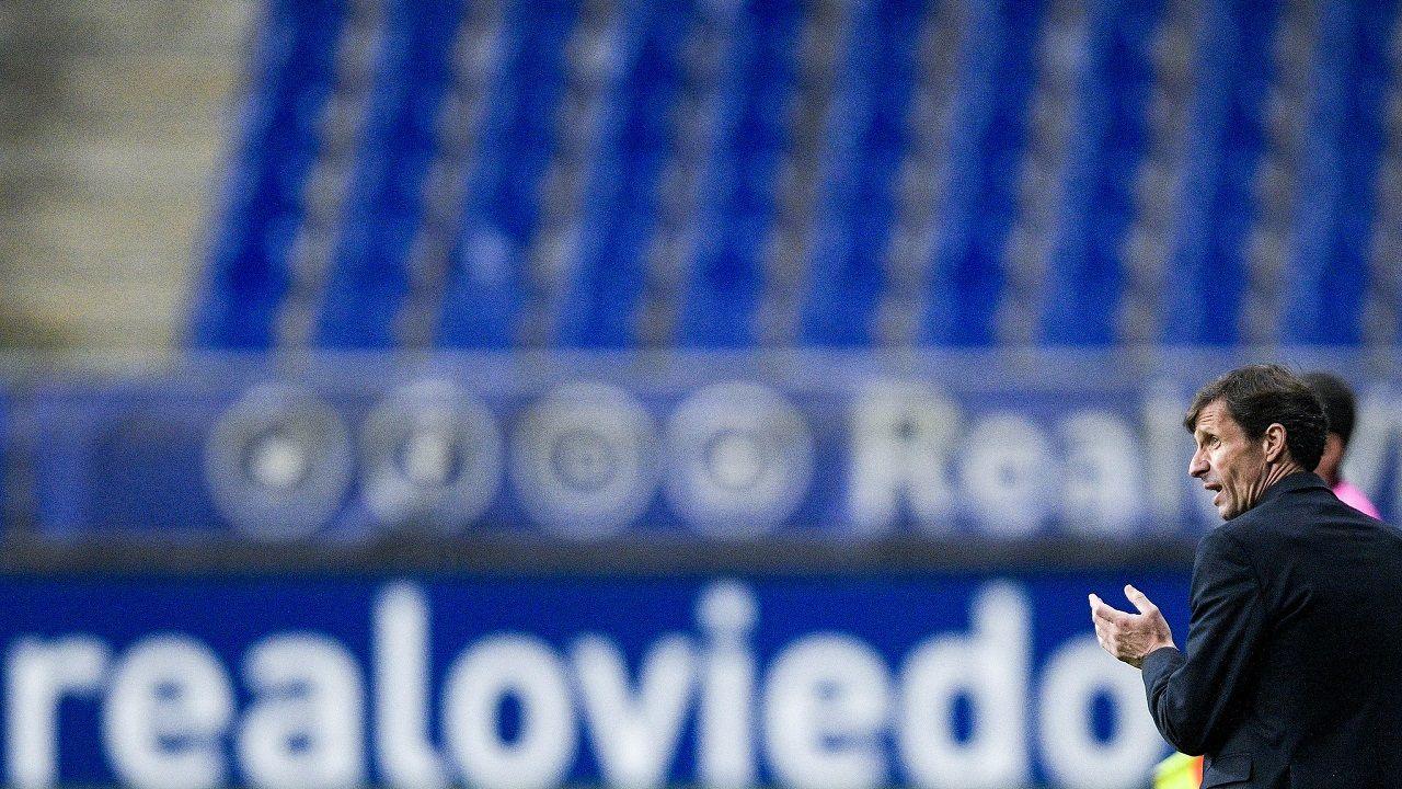 gol Tejera Sangalli Real Oviedo Lugo Carlos Tartiere.Ziganda, en la banda del Carlos Tartiere