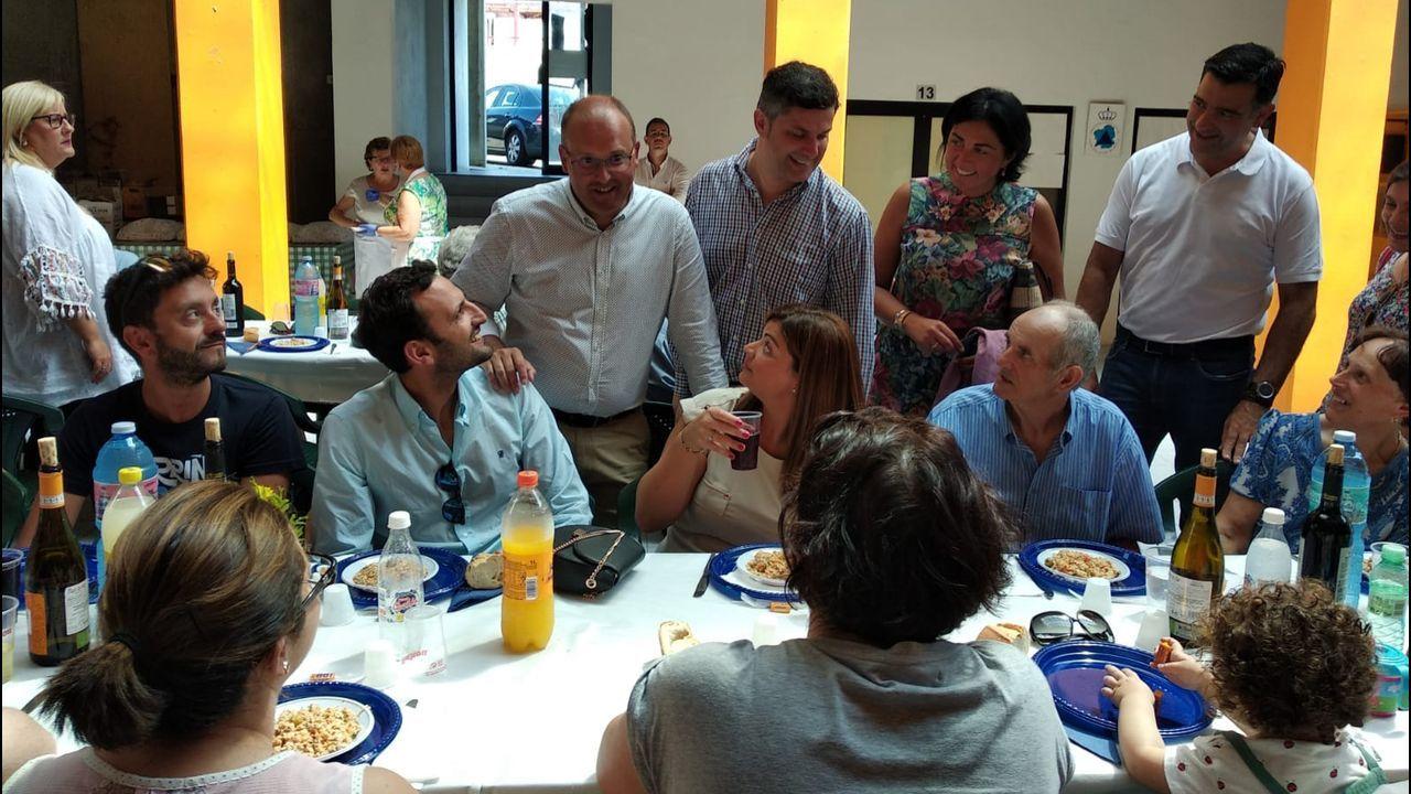 Casado y Feijoo, en el inicio del curso político, el año pasado, en Cerdedo-Cotobade