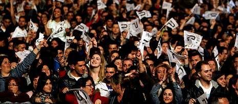 El público congregado en Fexdega volvió a responder a la llamada de Panorama, agitando constantemente sus banderolas al son del clásico himno panorámico.