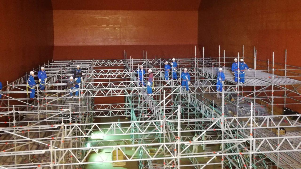 La trayectoria de Sopas en imágenes.Trabajos de Gabadi en un astillero chino, en foto de archivo